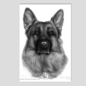 Rikko, German Shepherd Postcards (Package of 8)