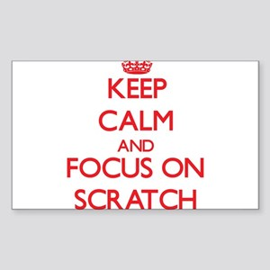 Keep Calm and focus on Scratch Sticker