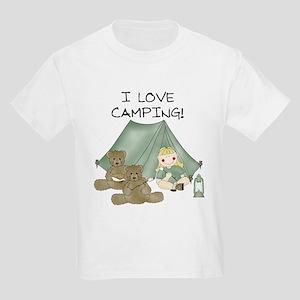 I Love Camping (Girl) Kids T-Shirt