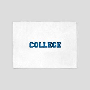 COLLEGE - Blue 5'x7'Area Rug
