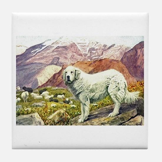 Great Pyrenees Art Tile Coaster