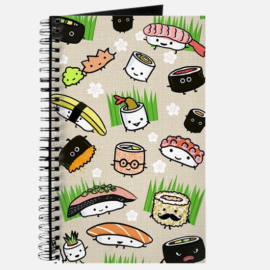 Sushi Characters Pattern Journal