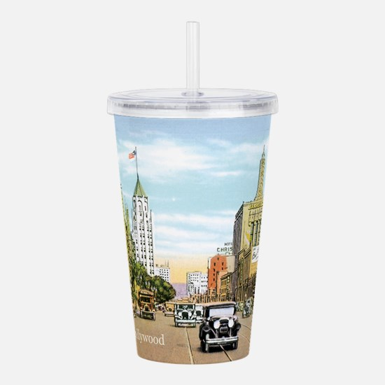 Vintage Hollywood Acrylic Double-wall Tumbler
