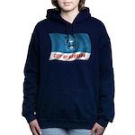 Wavy Burbank Flag Women's Hooded Sweatshirt