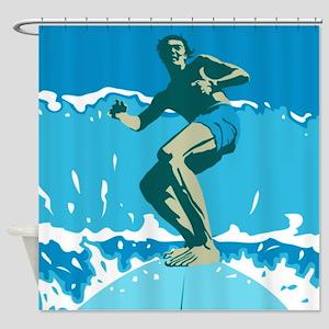 Surfing Shower Curtain