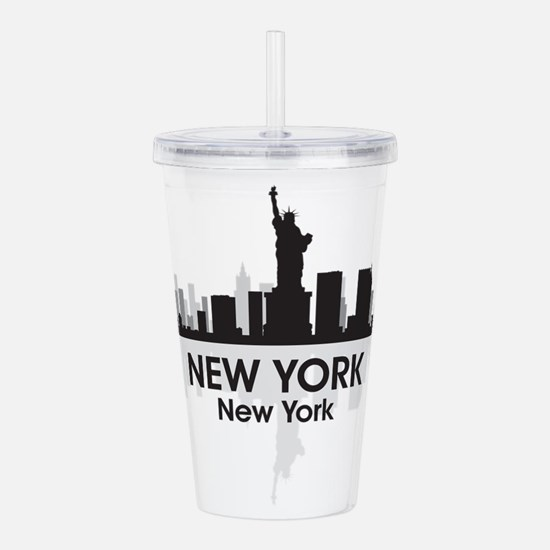 New York Skyline Acrylic Double-wall Tumbler