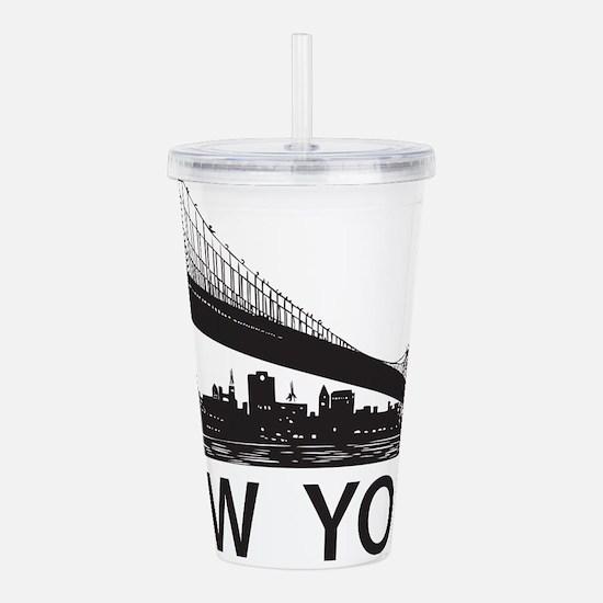 New York Skyline Acrylic Double-wall Tumbler