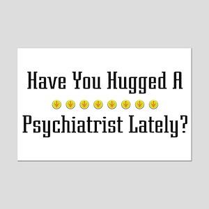 Hugged Psychiatrist Mini Poster Print