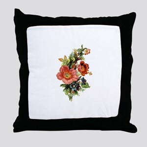 Victorian Floral 2 Throw Pillow