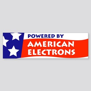 Powered by American Electrons Sticker