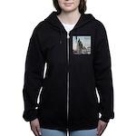 Grunge Wisconsin Flag Women's Zip Hoodie