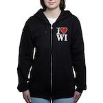 I Love Wisconsin Women's Zip Hoodie