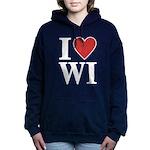 I Love Wisconsin Women's Hooded Sweatshirt