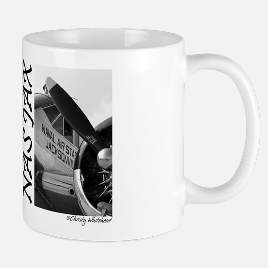 """NAS JAX"" 2 pics of a plane Mug"