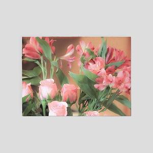 Rose Bouquet 2 5'x7'Area Rug