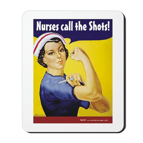 Nurses call the Shots! Mousepad