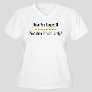 Hugged Probation Officer Women's Plus Size V-Neck