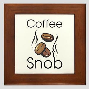 Coffee Snob Framed Tile