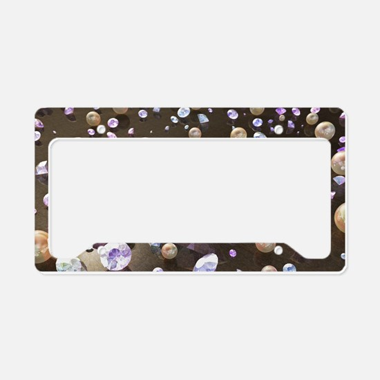 Diamonds and Pearls License Plate Holder