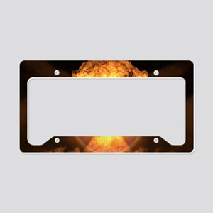 Drop the bomb License Plate Holder
