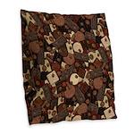 Got Chocolate? Burlap Throw Pillow