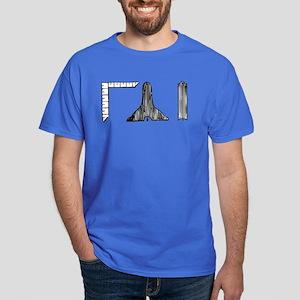 Masonic Design Centered on a Dark T-Shirt