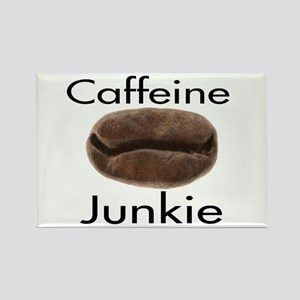Caffeine Junkie Rectangle Magnet