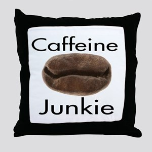 Caffeine Junkie Throw Pillow