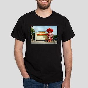 Pedro & Restroom sign, SC Dark T-Shirt