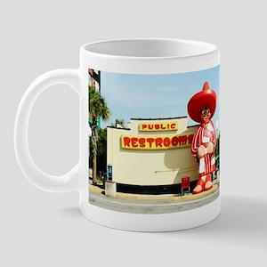 Pedro & Restroom sign, SC Mug