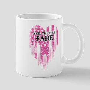 They're Fake 11 oz Ceramic Mug