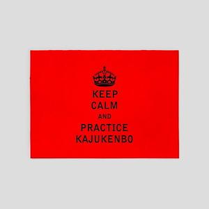 Keep Calm and Practice Kajukenbo 5'x7'Area Rug