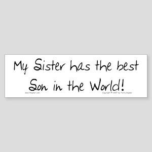 My Sis, Best Son Bumper Sticker