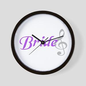 Bride (treble clef) Wall Clock