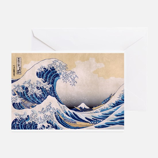Ukiyoe Hokusai Wave Greeting Cards (6)