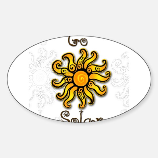 Go Solar 4 Oval Decal