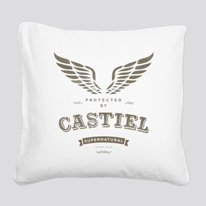 SUPERNATURAL Castiel Vintage Square Canvas Pillow