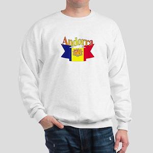 Andorra flag ribbon Sweatshirt