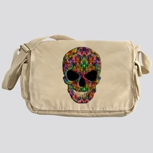 Colorful Fire Skull Messenger Bag