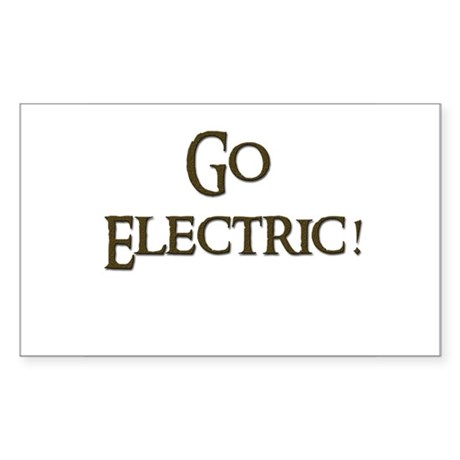 Go Electric 1 Rectangle Sticker