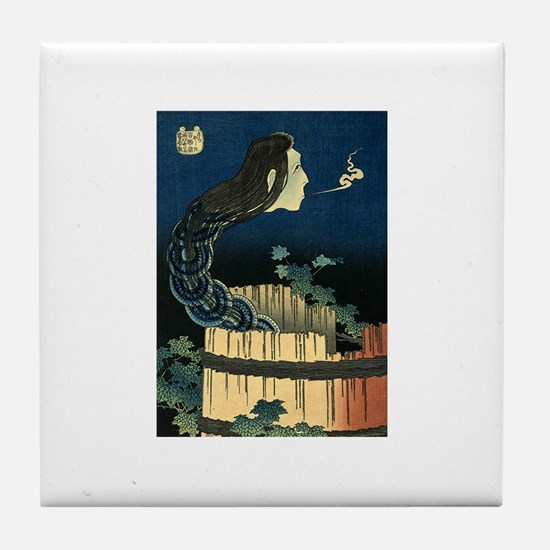 Ukiyoe Horror Bath Tile Coaster