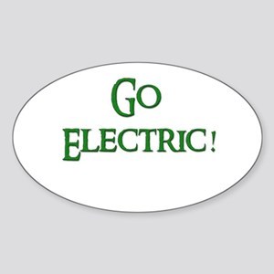 Go Electric 2 Oval Sticker