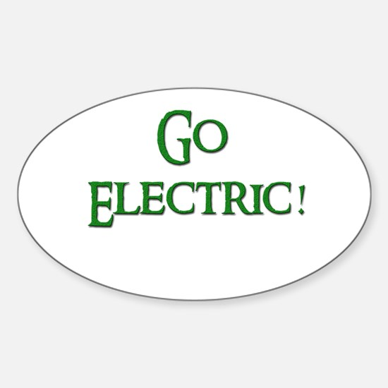 Go Electric 2 Oval Decal