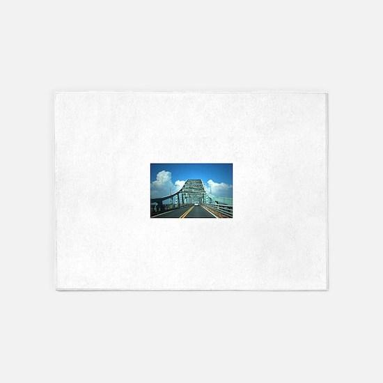 Robert Moses Bridge 5'x7'Area Rug