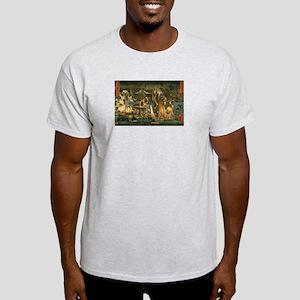 Ukiyoe Horror House Ash Grey T-Shirt