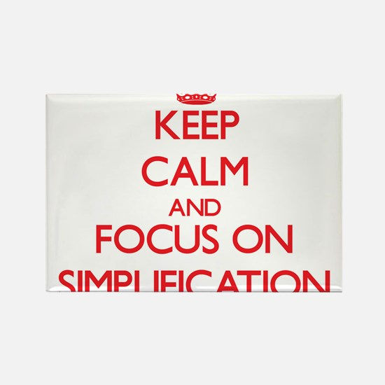 Keep Calm and focus on Simplification Magnets