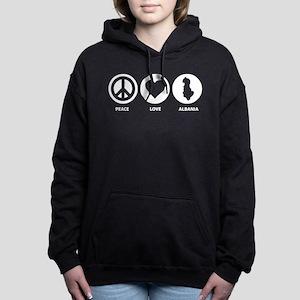 Peace Love Albania Women's Hooded Sweatshirt