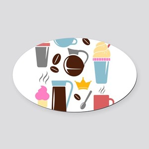 Template All Horizontal Oval Car Magnet
