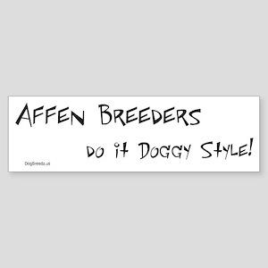 Affen Doggy Style Bumper Sticker