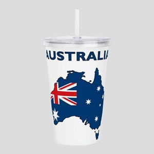 Map Of Australia Acrylic Double-wall Tumbler
